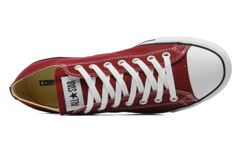 Sneaker Converse Chuck Taylor All Star Ox M weinrot ansicht von links