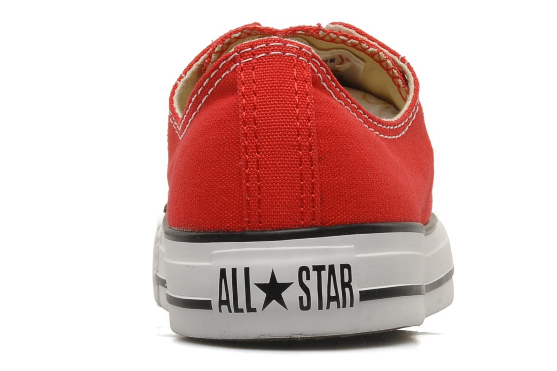 Sneaker Converse Chuck Taylor All Star Ox M rot ansicht von rechts