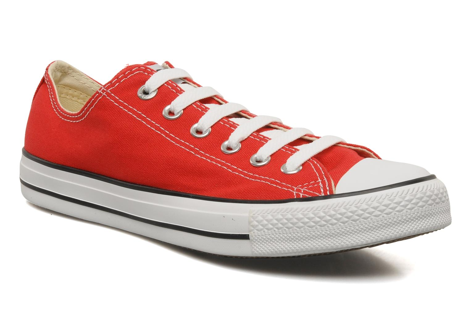 Baskets Converse Chuck Taylor All Star Ox M Rouge vue détail/paire