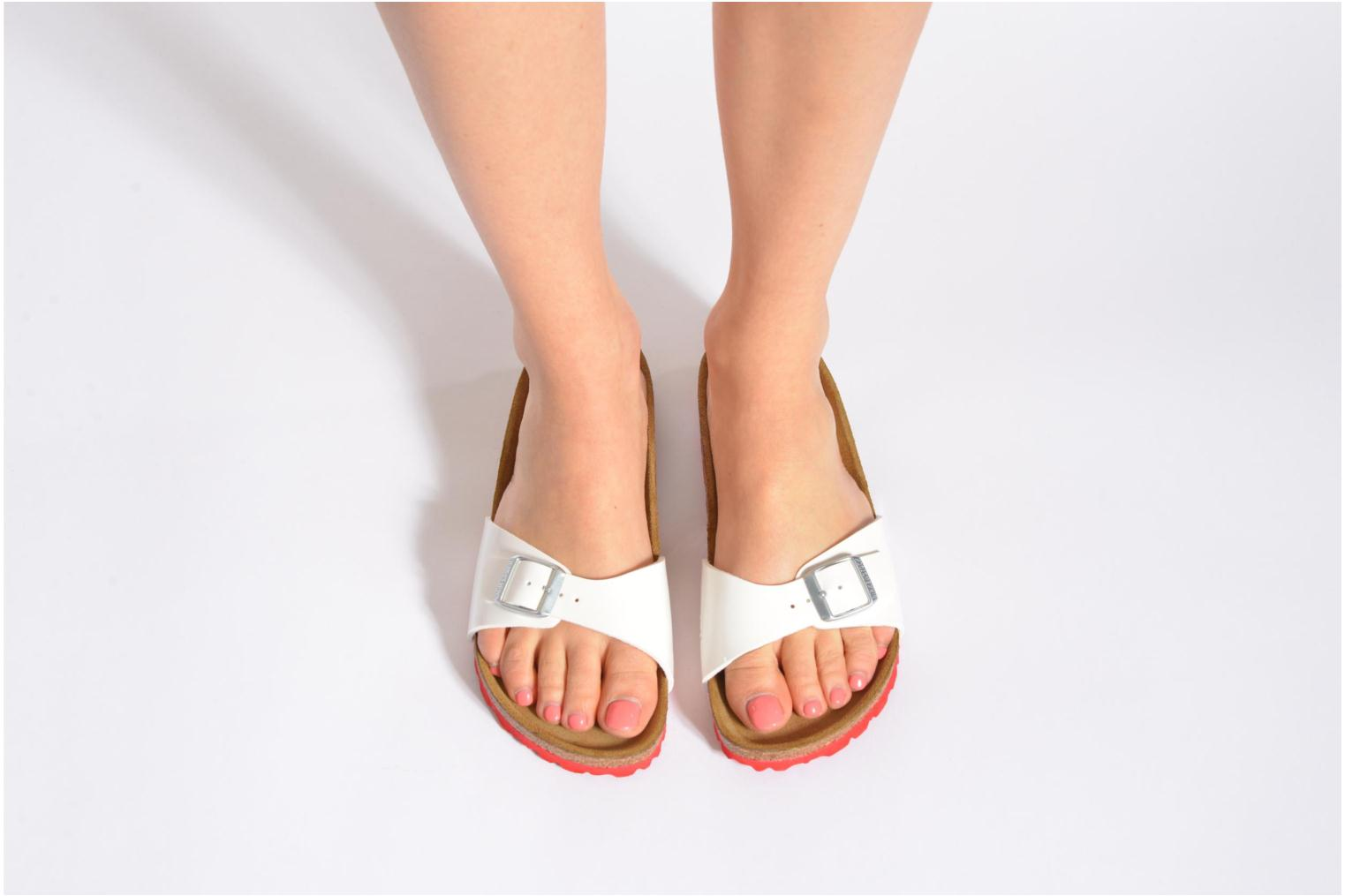 Mules & clogs Birkenstock Madrid Flor W Silver view from underneath / model view