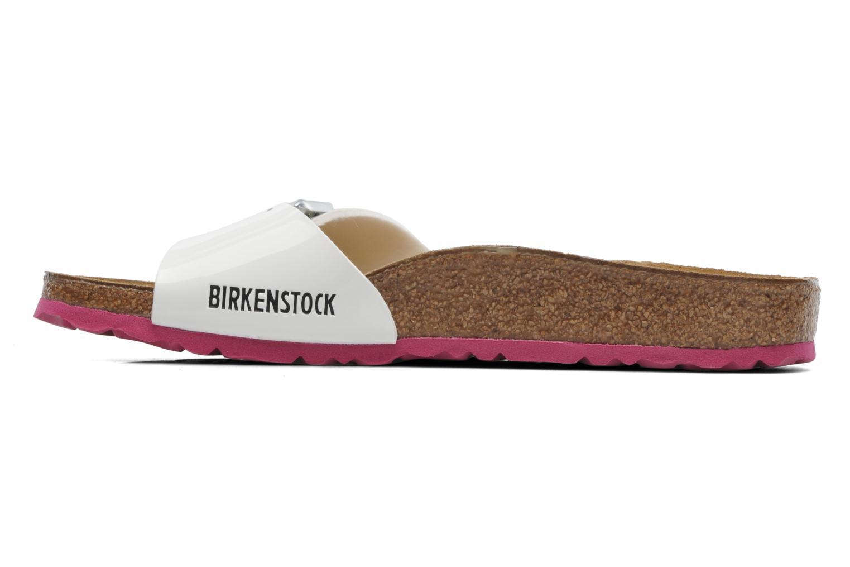 Zuecos Birkenstock Madrid Flor W Blanco vista de frente