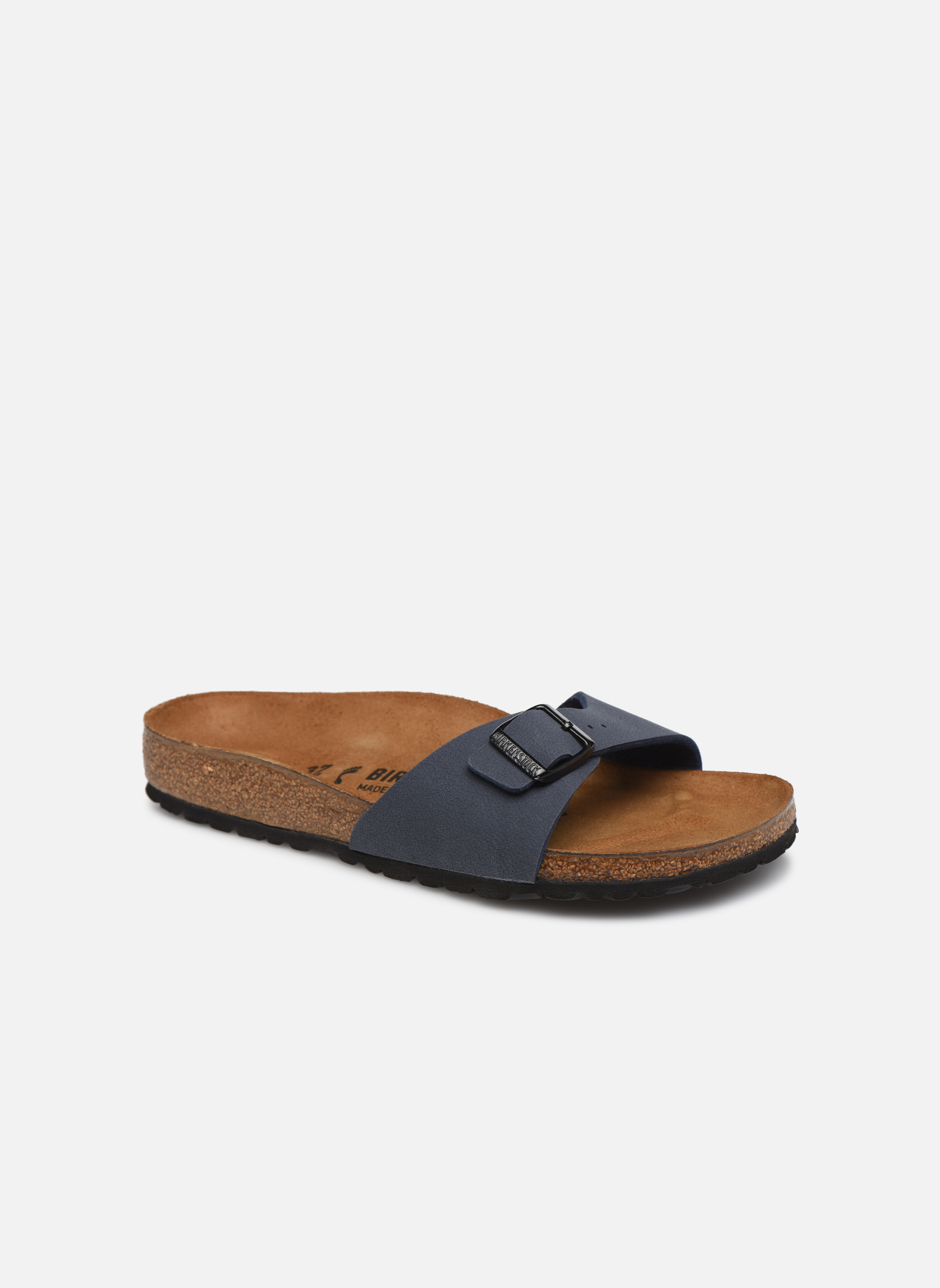 Grandes descuentos últimos zapatos Birkenstock Madrid Flor W (Azul) - Zuecos Descuento