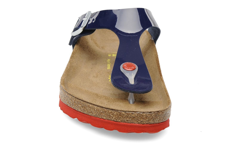 Sandaler Birkenstock Gizeh Flor W Blå bild av skorna på