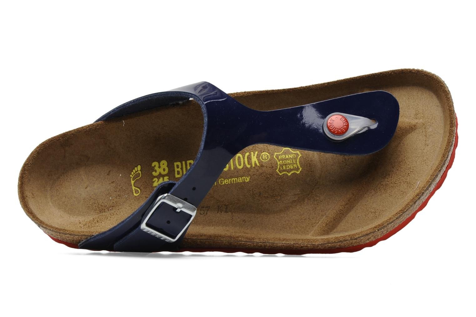 Sandals Birkenstock Gizeh Flor W Blue view from the left