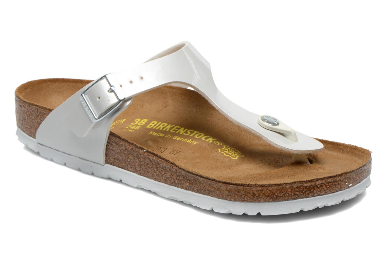 Sandales et nu-pieds Birkenstock Gizeh Flor W Blanc vue détail/paire