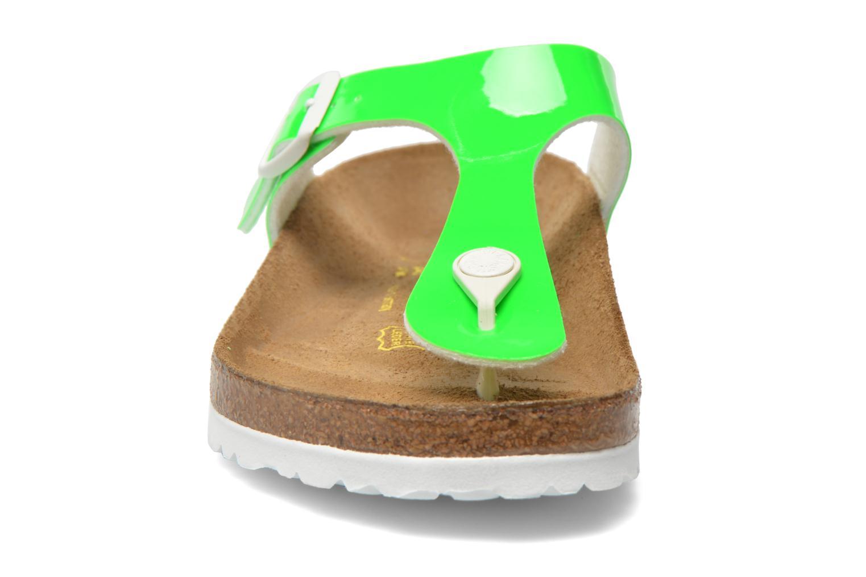 Sandalen Birkenstock Gizeh Flor W grün schuhe getragen
