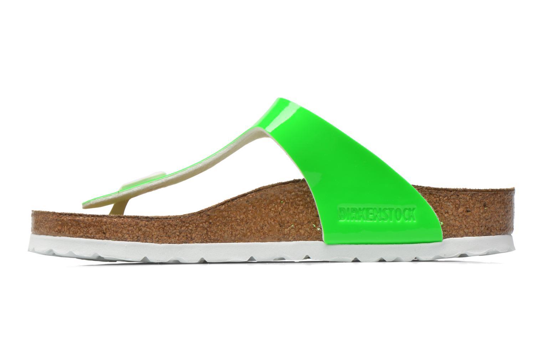 Sandalen Birkenstock Gizeh Flor W grün ansicht von vorne