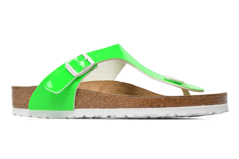 Sandales et nu-pieds Birkenstock Gizeh Flor W Vert vue derrière