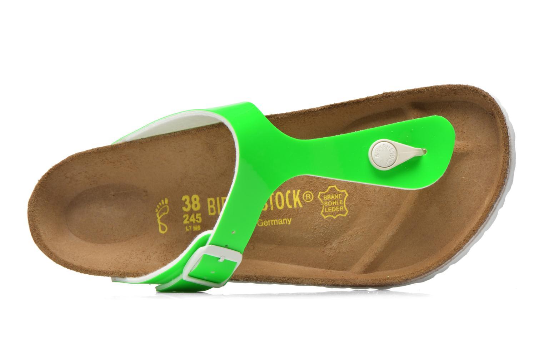 Sandales et nu-pieds Birkenstock Gizeh Flor W Vert vue gauche