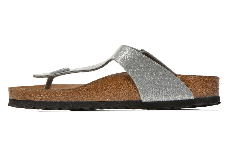 Sandales et nu-pieds Birkenstock Gizeh Flor W Argent vue face