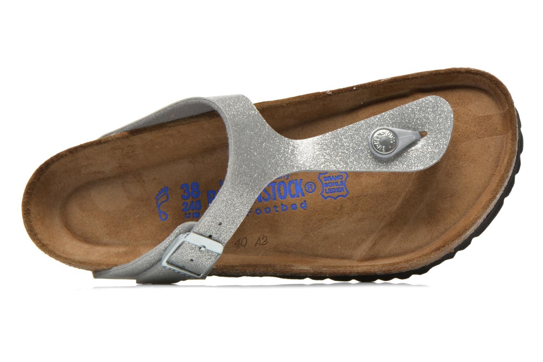 Sandales et nu-pieds Birkenstock Gizeh Flor W Argent vue gauche