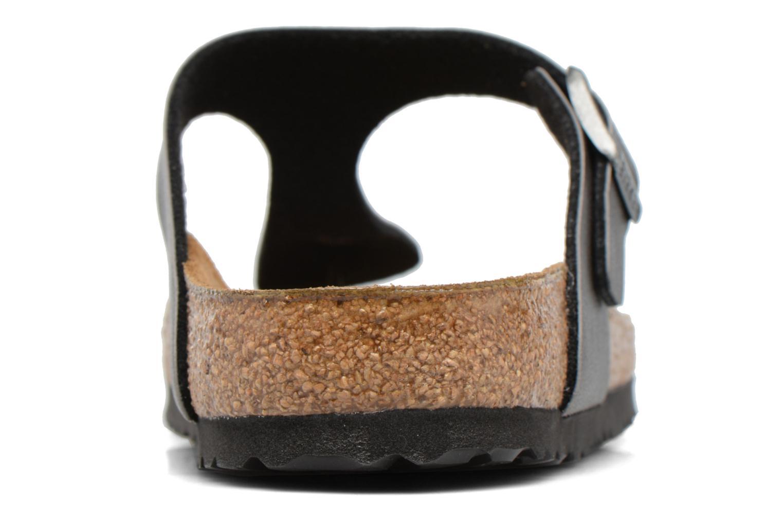 Sandales et nu-pieds Birkenstock Gizeh Flor W Gris vue droite