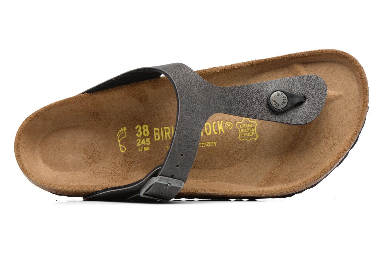 Sandales et nu-pieds Birkenstock Gizeh Flor W Gris vue gauche