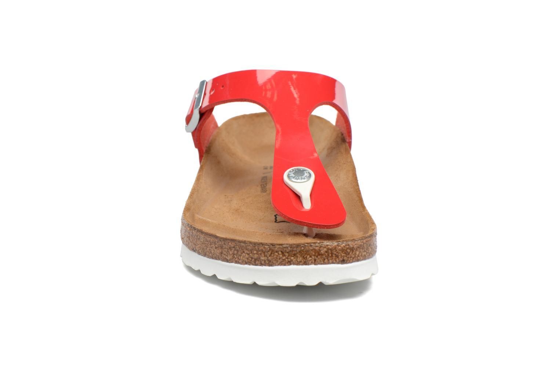 Sandalen Birkenstock Gizeh Flor W rot schuhe getragen