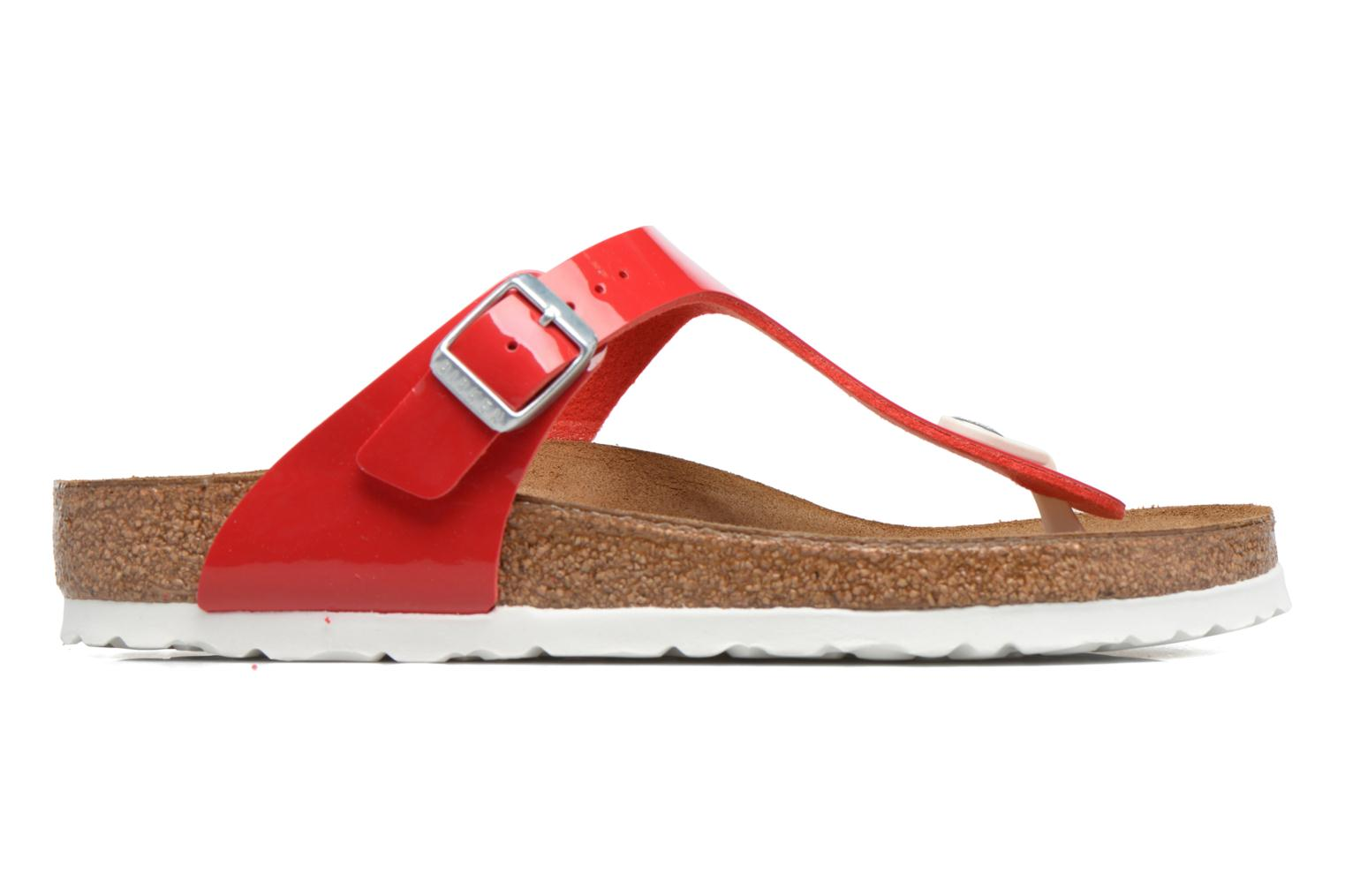 Sandals Birkenstock Gizeh Flor W Red back view