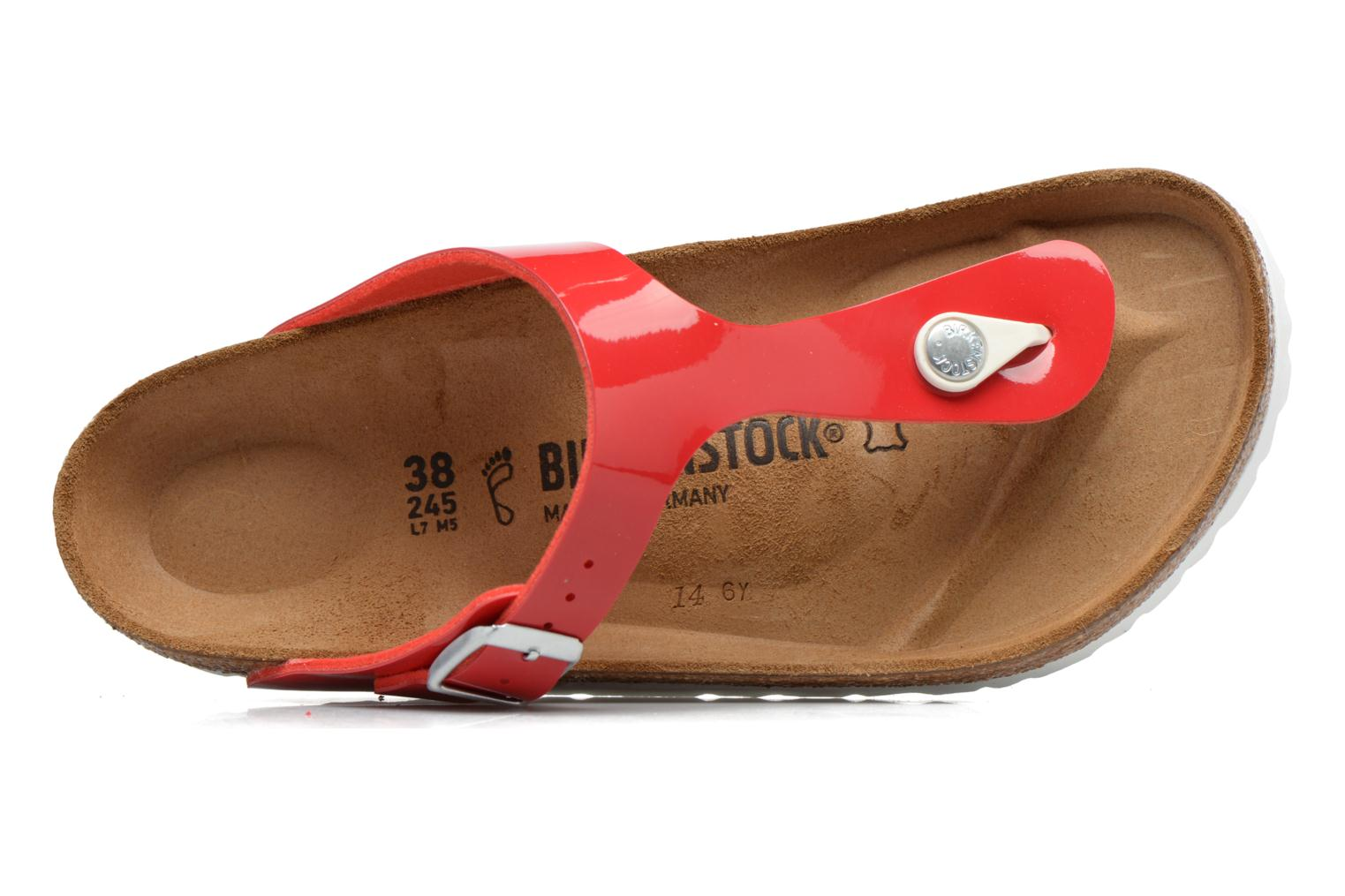 Sandals Birkenstock Gizeh Flor W Red view from the left
