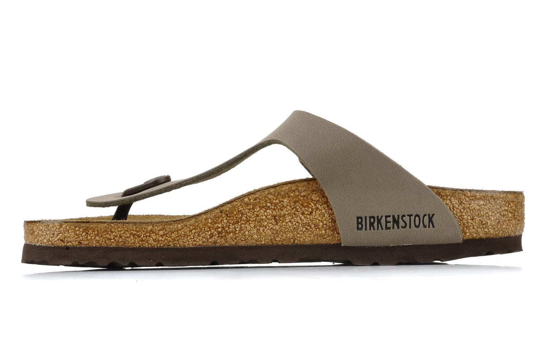 Sandales et nu-pieds Birkenstock Gizeh Flor W Gris vue face