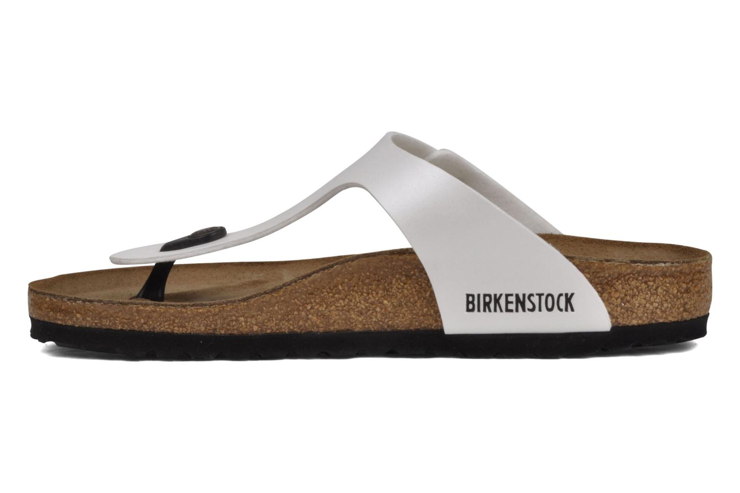 Sandals Birkenstock Gizeh Flor W White front view