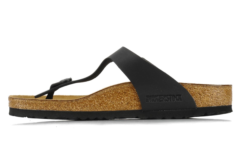 Sandali e scarpe aperte Birkenstock Gizeh Flor W Nero immagine frontale