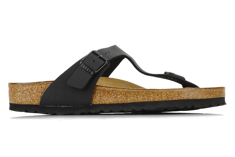 Sandals Birkenstock Gizeh Flor W Black back view