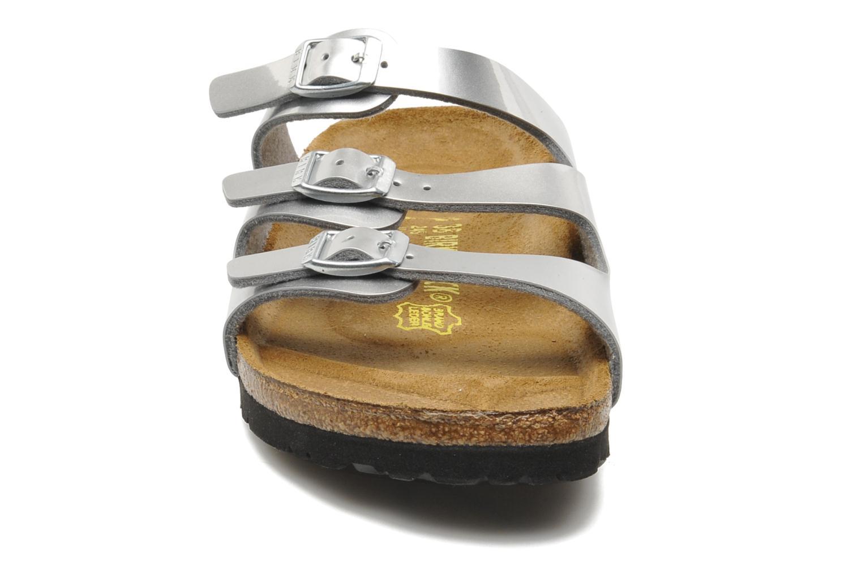 Mules et sabots Birkenstock Florida Flor W Argent vue portées chaussures