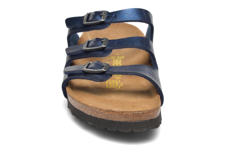 Mules et sabots Birkenstock Florida Flor W Bleu vue portées chaussures