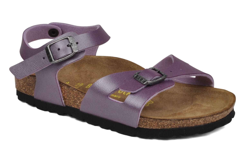 Sandales et nu-pieds Birkenstock Rio Flor E Violet vue détail/paire