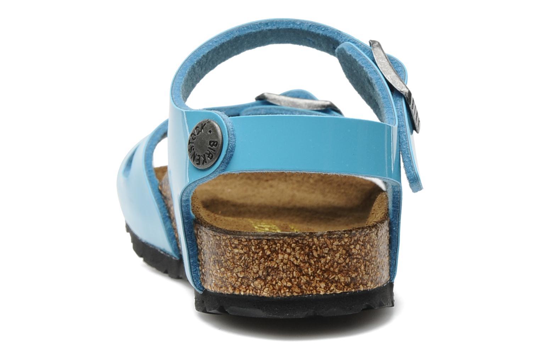 Sandalen Birkenstock Rio Flor E blau ansicht von rechts