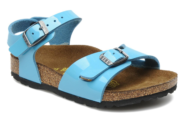 Sandales et nu-pieds Birkenstock Rio Flor E Bleu vue détail/paire