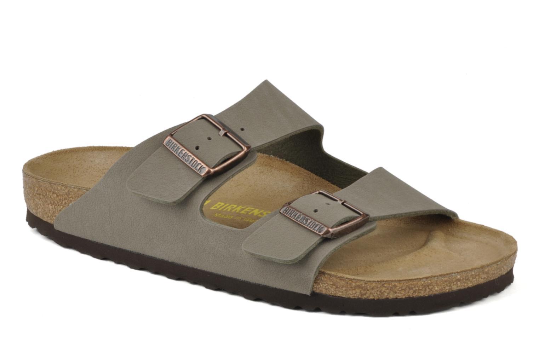 Sandales et nu-pieds Birkenstock Arizona Flor M Gris vue détail/paire