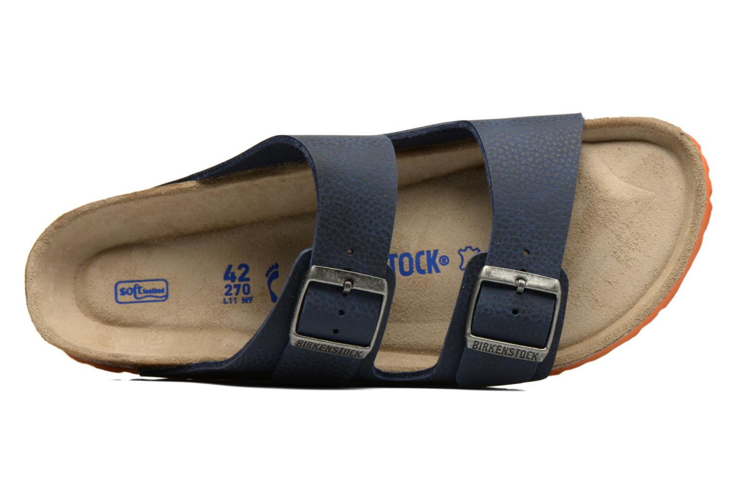 Sandals Birkenstock Arizona Flor M Blue view from the left