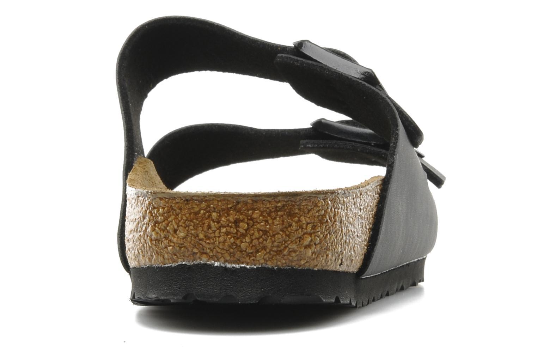 Sandales et nu-pieds Birkenstock Arizona Flor M Noir vue droite