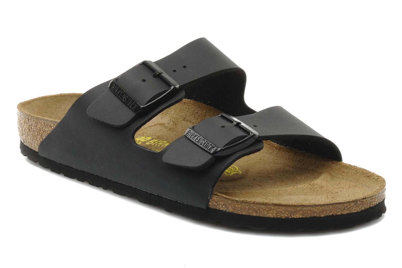 Sandaler Birkenstock Arizona Flor M Sort detaljeret billede af skoene