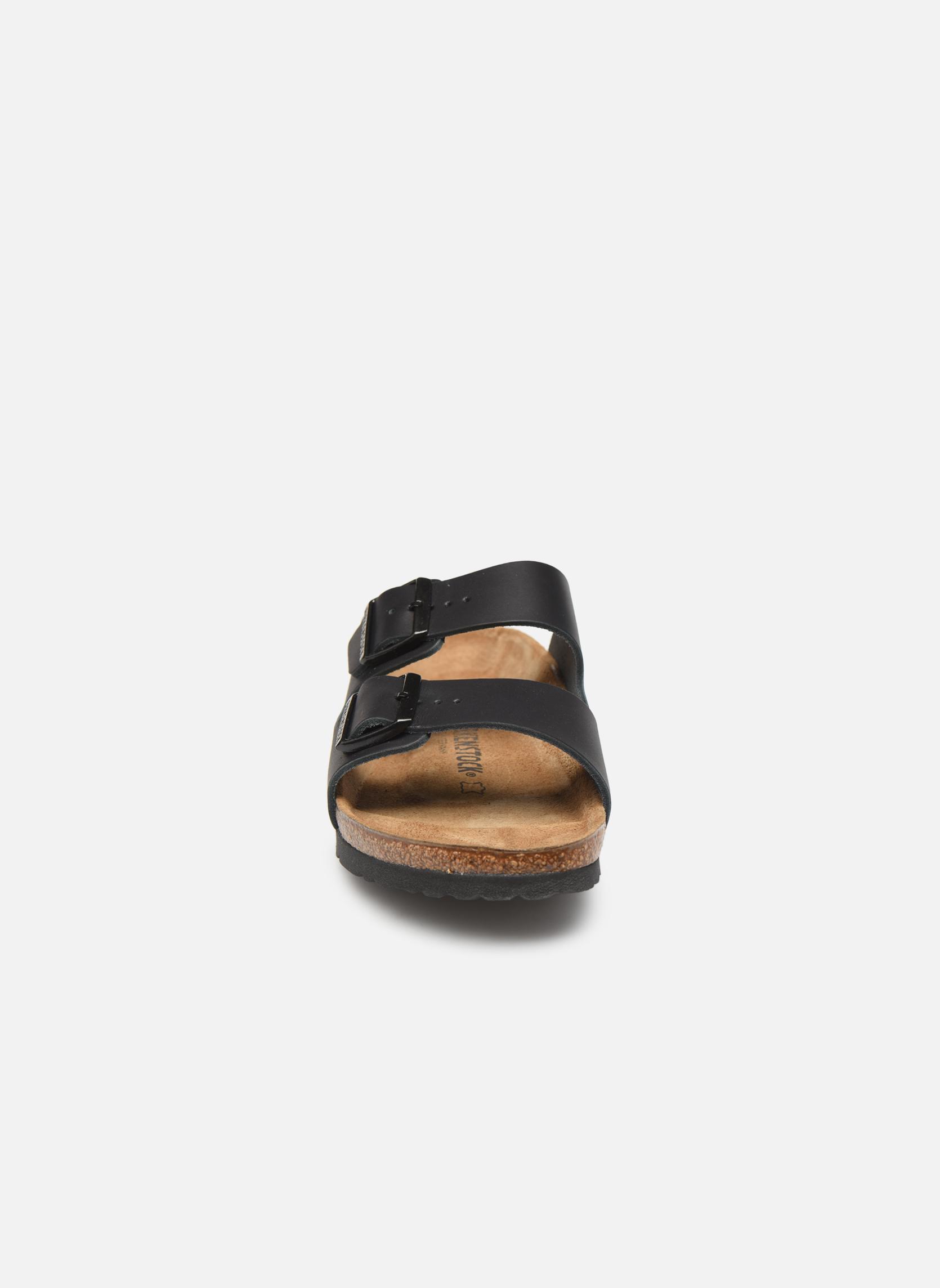 Sandalen Birkenstock Arizona Cuir M schwarz schuhe getragen