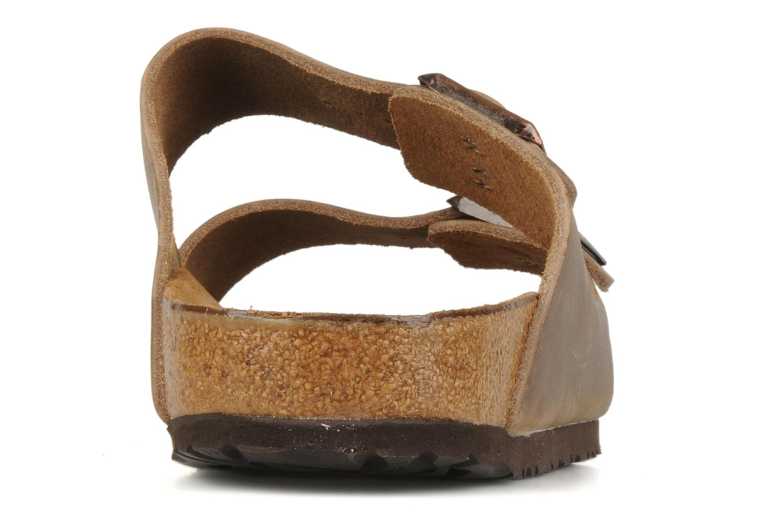 Sandals Birkenstock Arizona Cuir M Brown view from the right