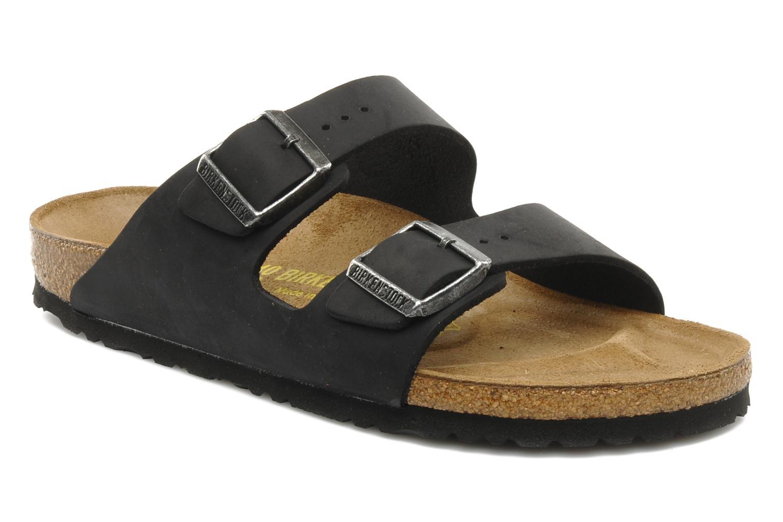 Birkenstock Arizona Cuir M (Noir) - Sandales et nu-pieds chez Sarenza (91118)