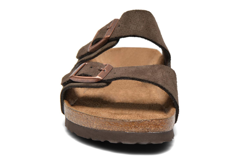 Sandals Birkenstock Arizona Velours M Brown model view
