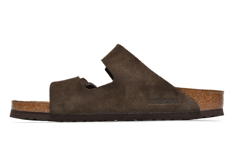 Sandales et nu-pieds Birkenstock Arizona Velours M Marron vue face