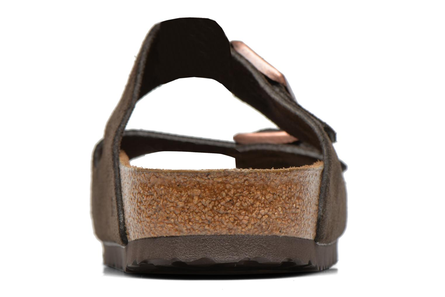 Sandals Birkenstock Arizona Velours M Brown view from the right