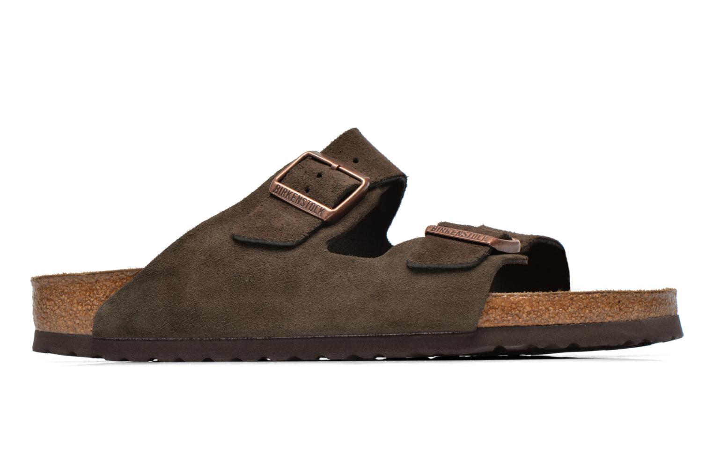 Sandales et nu-pieds Birkenstock Arizona Velours M Marron vue derrière