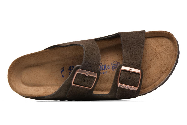 Sandales et nu-pieds Birkenstock Arizona Velours M Marron vue gauche