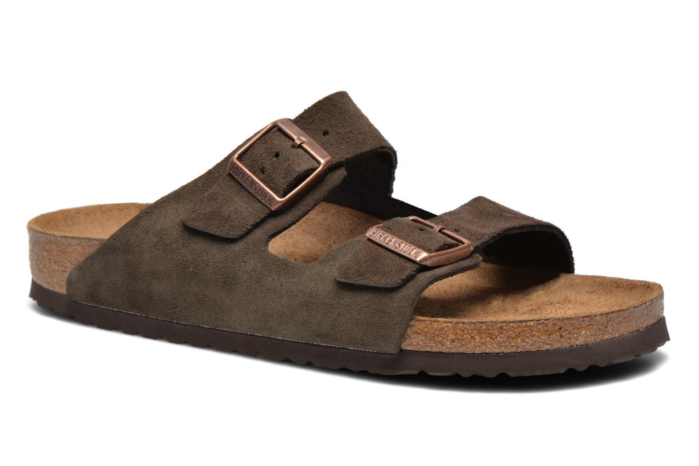 Sandales et nu-pieds Birkenstock Arizona Velours M Marron vue détail/paire
