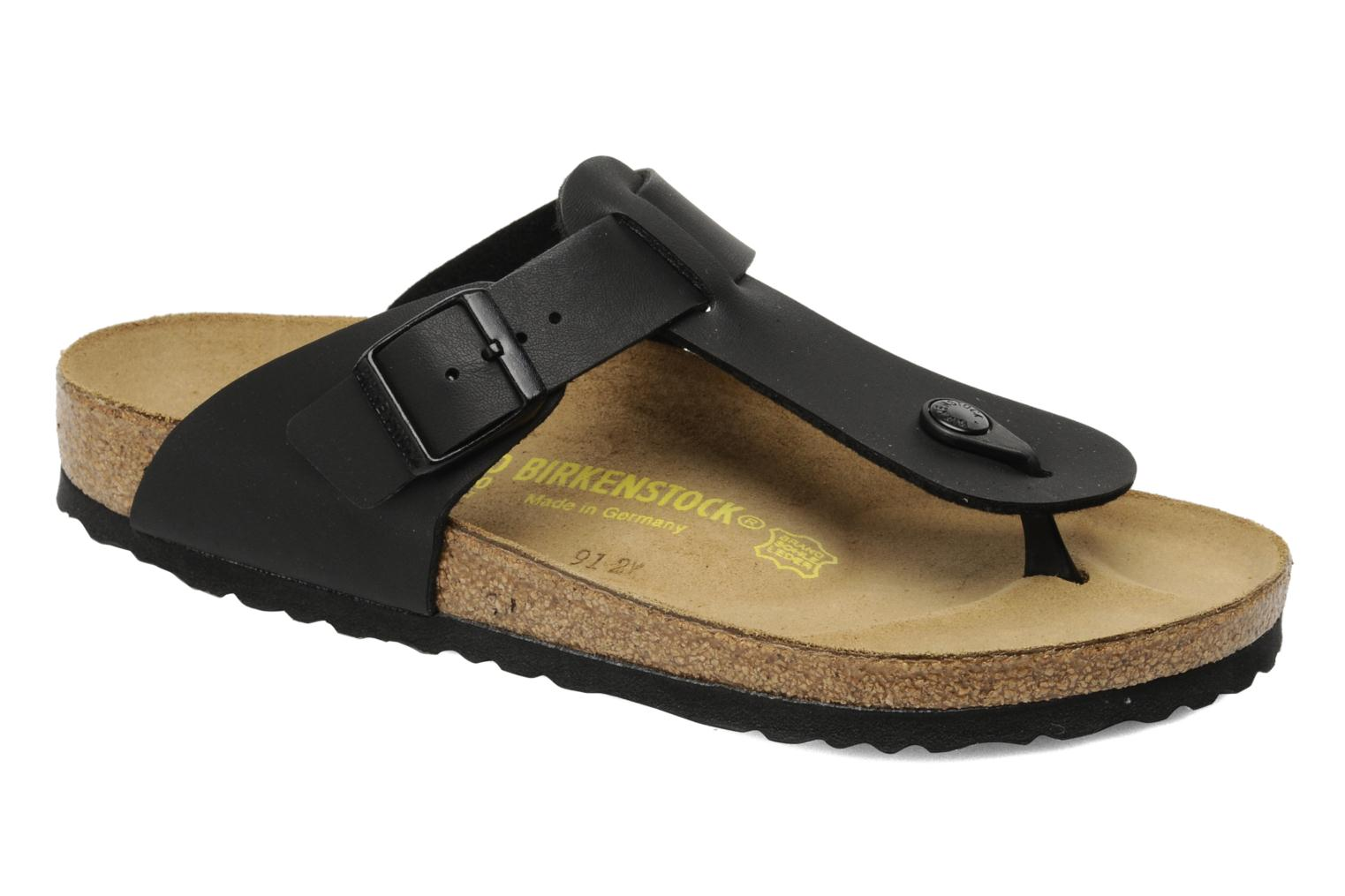 Flip flops Birkenstock Medina Flor M Black detailed view/ Pair view