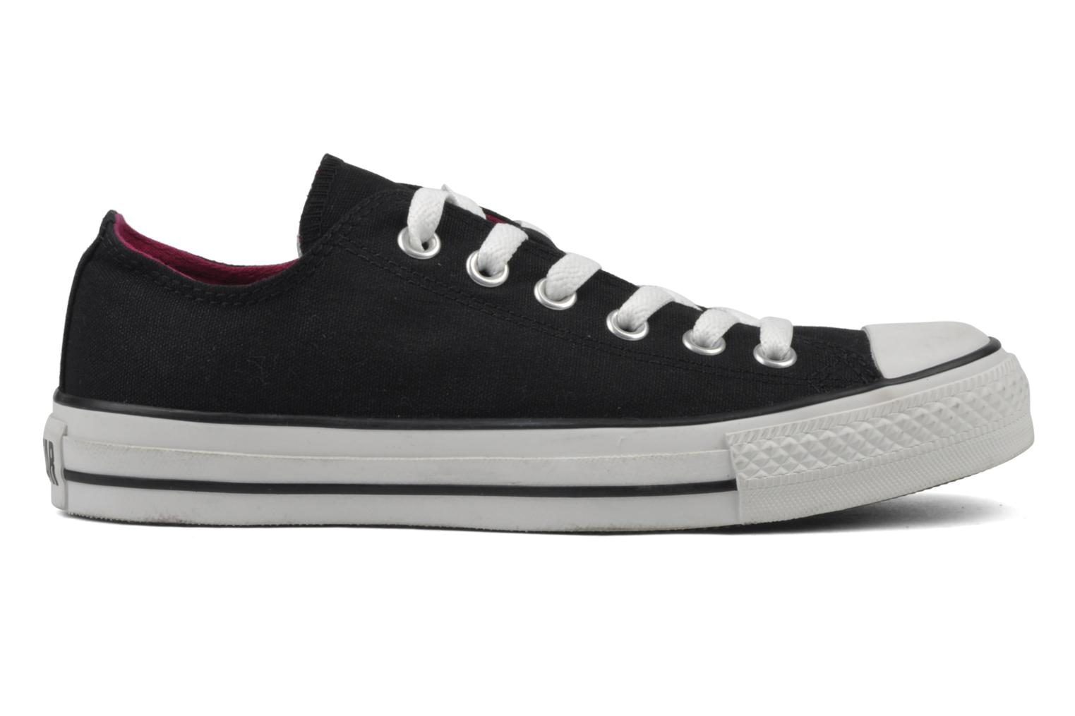 Sneakers Converse Chuck Taylor All Star Double Tongue Ox Zwart achterkant