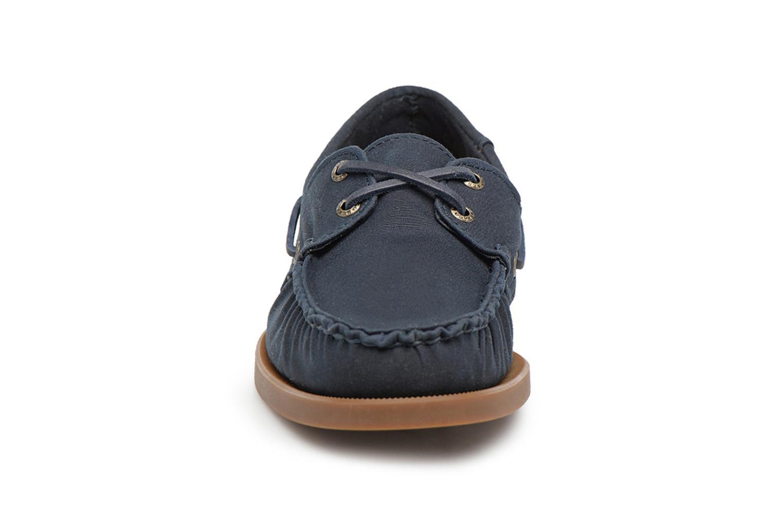 Chaussures à lacets Sebago Spinnaker Bleu vue portées chaussures