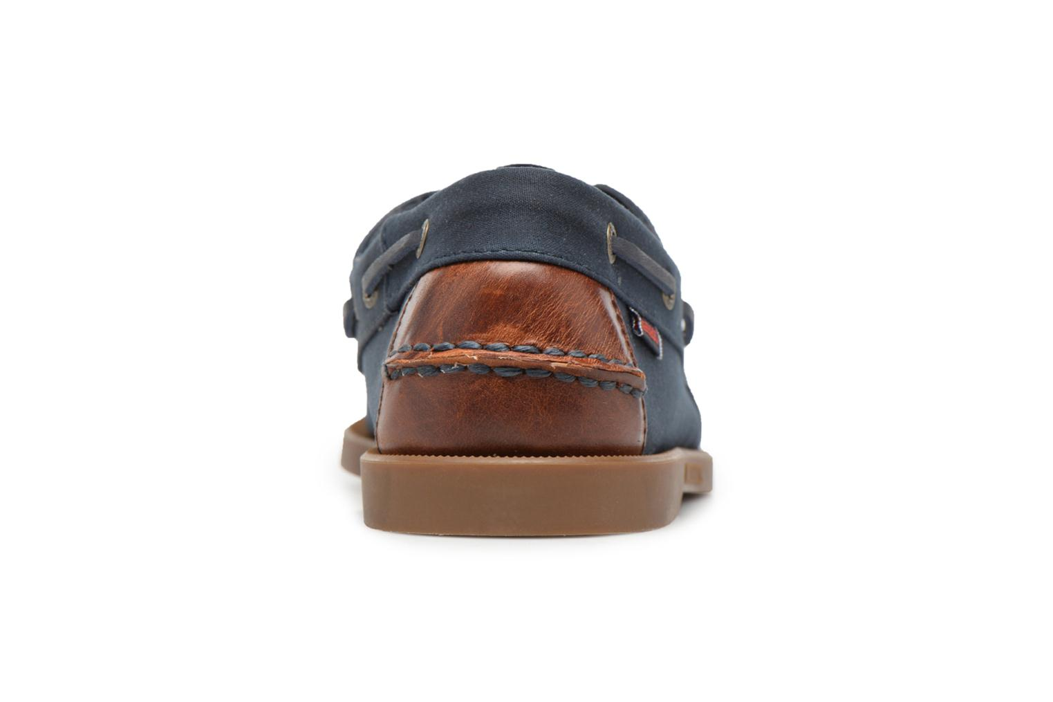 Spinnaker Navy Txtl/Brown Leather