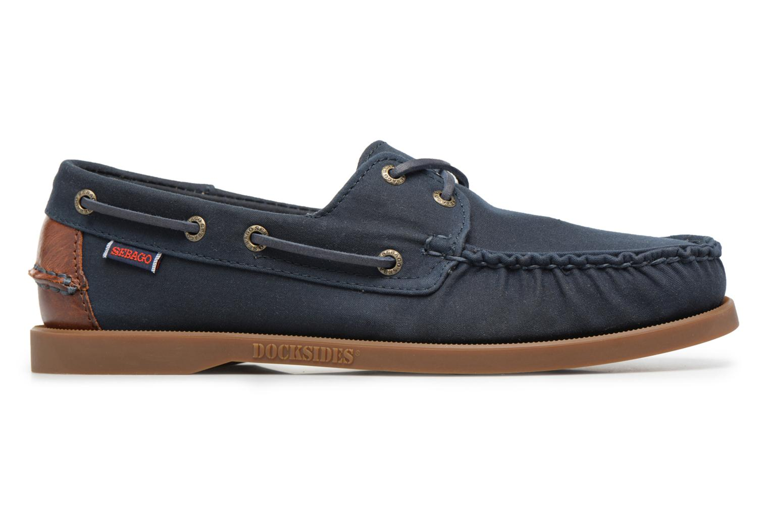 Lace-up shoes Sebago Spinnaker Blue back view