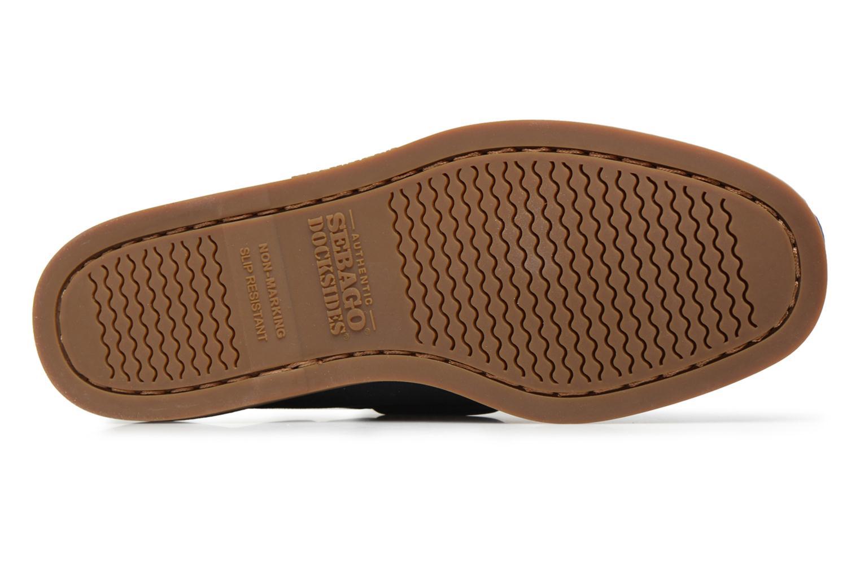 Spinnaker Navy Txtl/Brown Leather