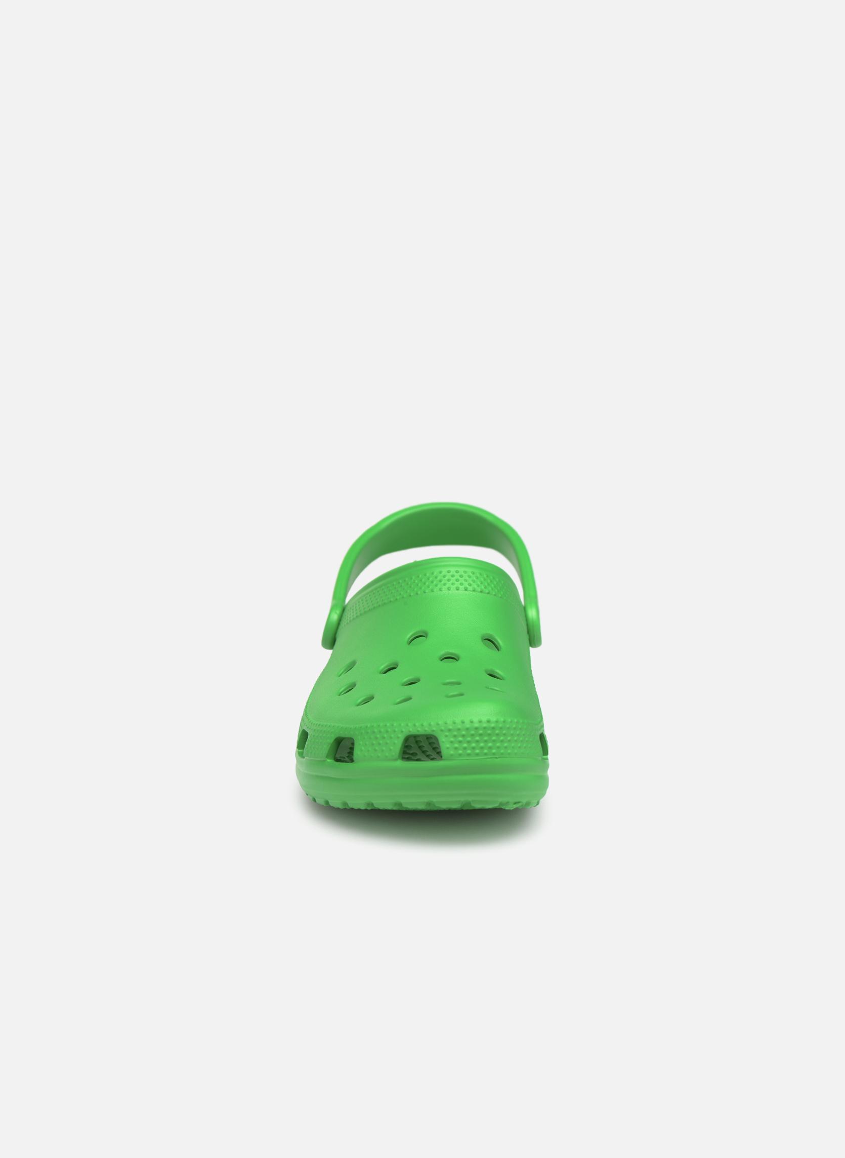 Sandales et nu-pieds Crocs Classic H Vert vue portées chaussures
