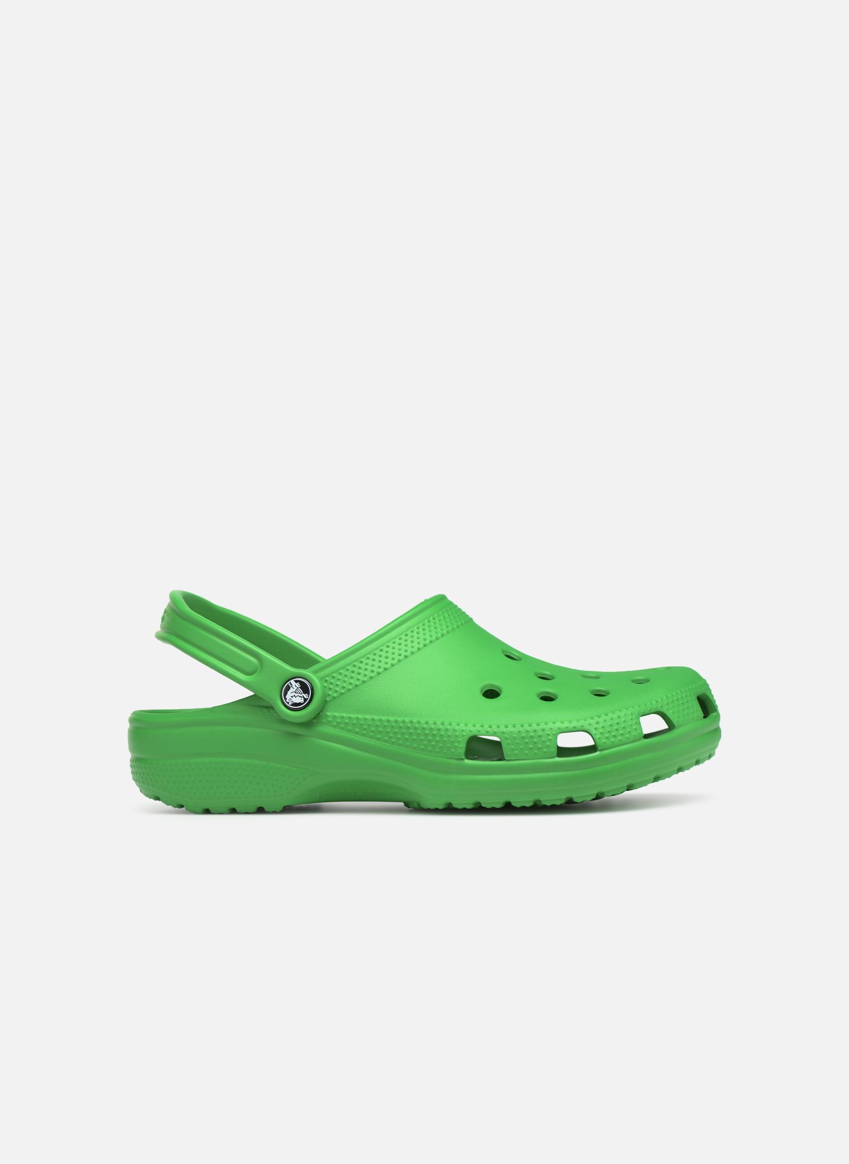 Sandales et nu-pieds Crocs Classic H Vert vue derrière
